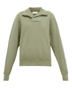 Yacht Open-collar Cotton-jersey Sweatshirt