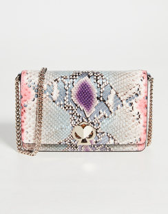 Romy Python Embossed Chain Wallet