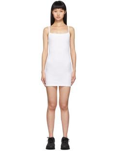 White Lapointe Mini Tank Dress