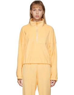 SSENSE Exclusive Yellow Terry Diana Half-Zip Sweatshirt