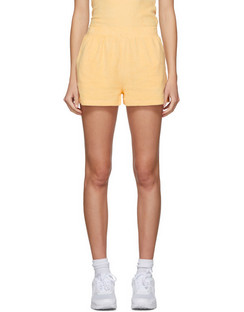 SSENSE Exclusive Yellow Terry Port Shorts