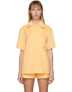 SSENSE Exclusive Yellow Terry Bowling Shirt
