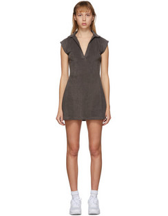 SSENSE Exclusive Brown Terry Tennis Dress