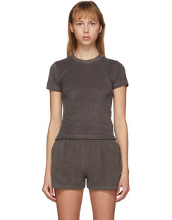 SSENSE Exclusive Brown Terry Corsica T-Shirt