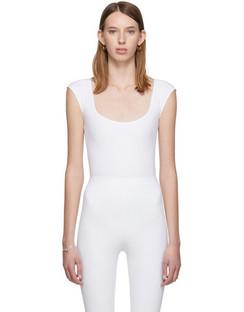 White El Tigre Cap Sleeve Bodysuit