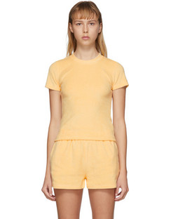 SSENSE Exclusive Yellow Terry Corsica T-Shirt
