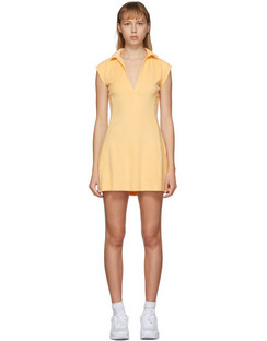 SSENSE Exclusive Yellow Terry Tennis Dress