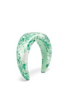 Floral-print Satin Headband