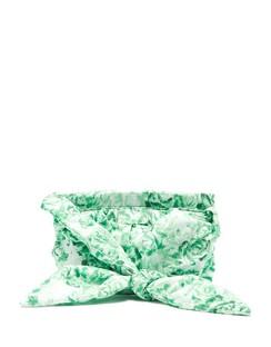 Padded Floral-print Shoulder Bag