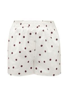 High-rise Polka-dot Cotton Poplin Shorts