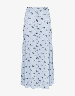 Floral Print Georgette Midi Skirt