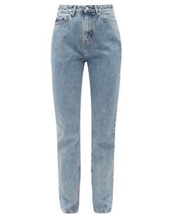 Washed-denim Boyfriend Jeans