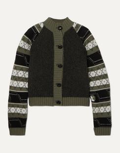 Striped Fair Isle Wool-blend Cardigan