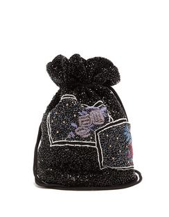 Beaded Drawstring Pouch