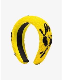 Yellow Floral Beaded Headband