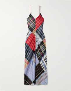Patchwork Printed Silk-blend Satin Maxi Dress