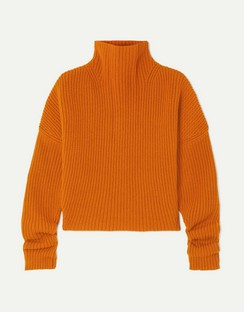 Kate Ribbed Cashmere Turtleneck Sweater