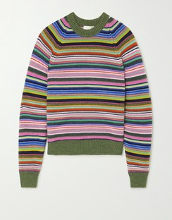 Magdalena Striped Knitted Sweater