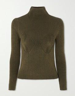 + NET SUSTAIN Mida Ribbed Stretch-modal Turtleneck Sweater