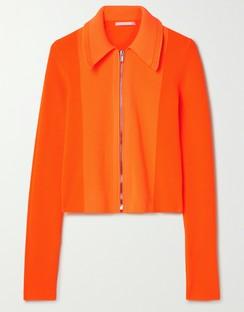 Neon Ribbed-knit Cardigan