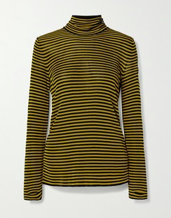 Kristin Striped Knitted Turtleneck Sweater