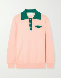 Casa Two-tone Cotton Sweater