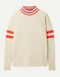 Odyssey Striped Ribbed Cashmere Sweater