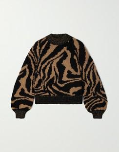 Jacquard Wool and Alpaca-blend Sweater