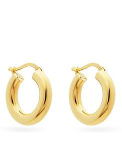 Gold-plated Sterling-silver Hoop Earrings