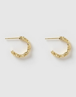 Kira Gold Hoop Earrings