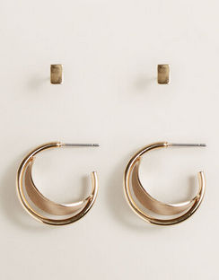 Gold Hoop Stud Pack