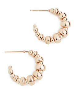 14k Gold Small Thin Hoop Earrings