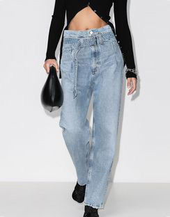 Reworked '90s Belted Jeans