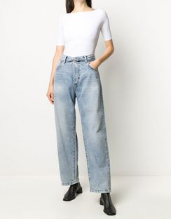 Belted Loose-fit Jeans