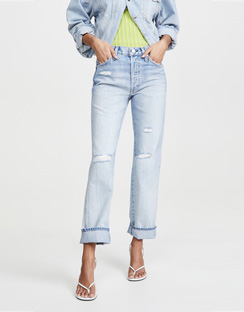 Layla High Rise Relaxed Straight Leg Jeans