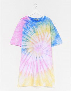 Groovy Kinda Love Plus Tie Dye Tee Dress