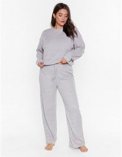 Rib and Repeat Knit Plus Lounge Set