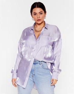 Shine Bright Tonight Plus Satin Shirt