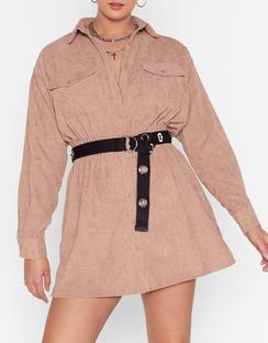 Grab Your Cord Plus Shirt Dress