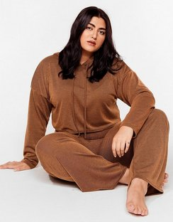 Hood Be Love Plus Wide-Leg Lounge Set