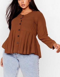 Button the Ball Plus Relaxed Top