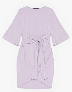 No Harm in Tie-ing Plus Wrap Dress