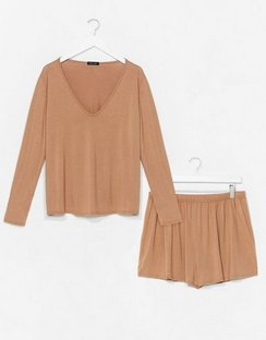 Top Notch Plus Top and Shorts Lounge Set