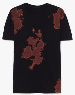 Plus Size Black Tie Dye Tee