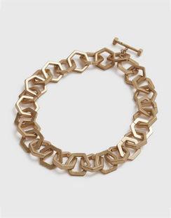 Hexlink Gold-tone Necklace
