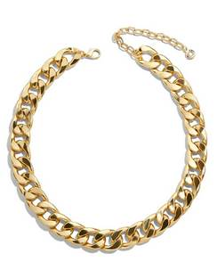 Michaela Curb Chain Collar Necklace