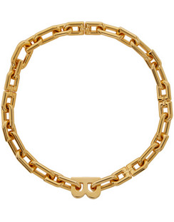 Gold B Chain Necklace
