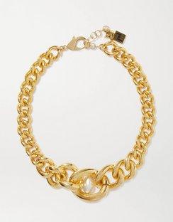 Canasta Gold-tone Faux Pearl Choker