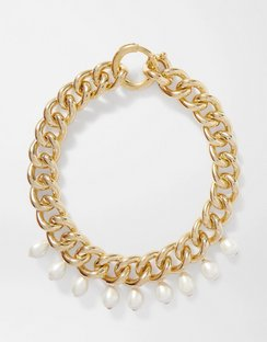 Canasta Gold-tone Faux Pearl Necklace