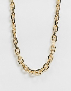 Necklace with Faceted Luxe Links in Gold Tone